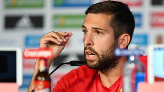 Jordi Alba Spain press conference UEFA EURO 2016