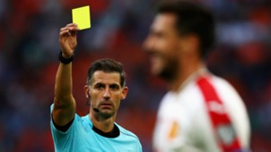 Referee Tasos Sidiropoulos Ivelin Popov Bulgaria FIFA 2018 World Cup Qualifier