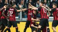 Juventus Milan celebrating Serie A