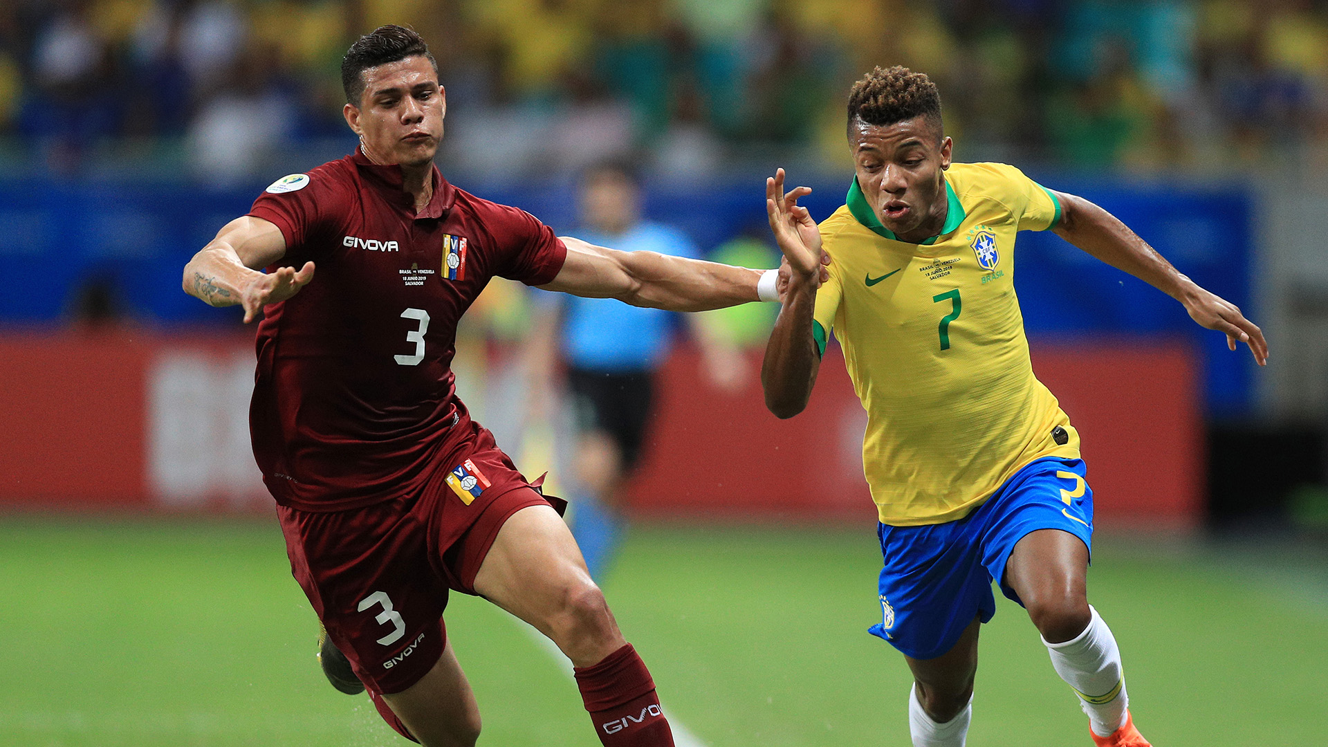 David Neres Yordan Osorio Brasil Venezuela Copa América 18062019