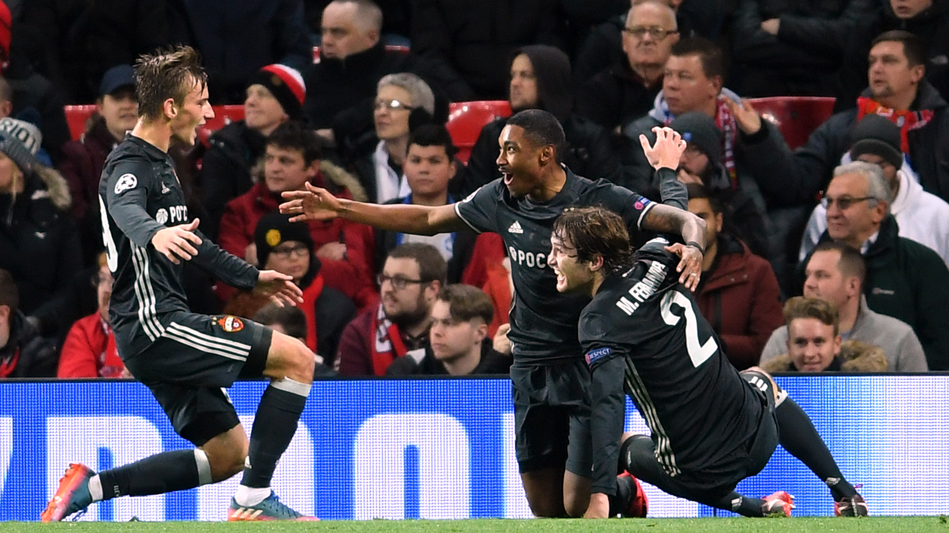 CSKA celebrate Manchester United