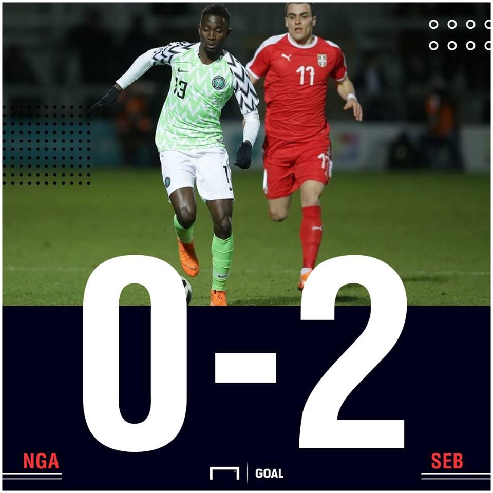 Nigeria Serbia scoreline PS