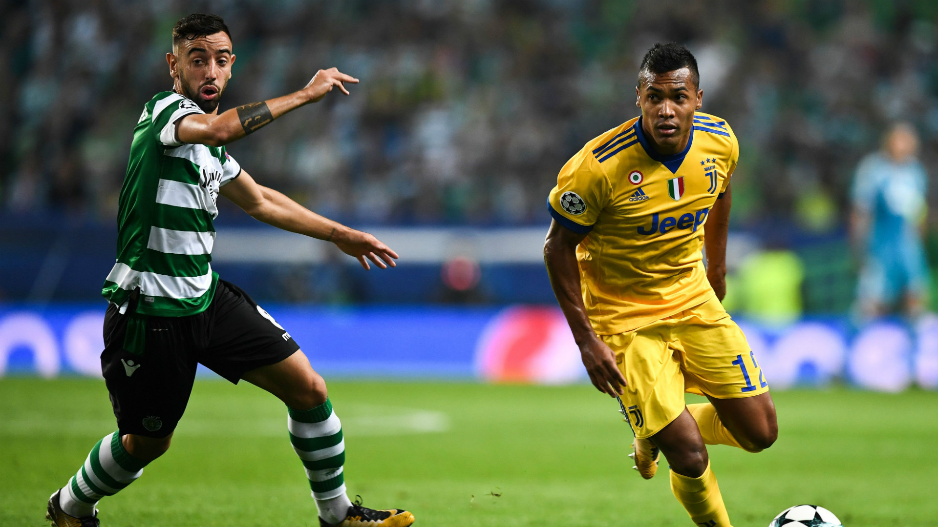Bruno Fernandes Alex Sandro Sporting Juventus Champions League