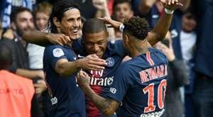 Mbappé Cavani Neymar PSG Angers