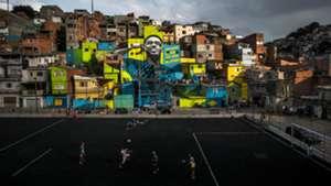 Gabriel Jesus mural Brazil