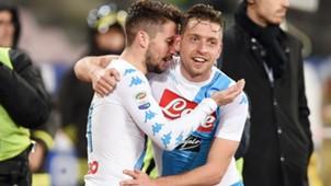 Dries Mertens Emanuele Giaccherini Napoli Genoa