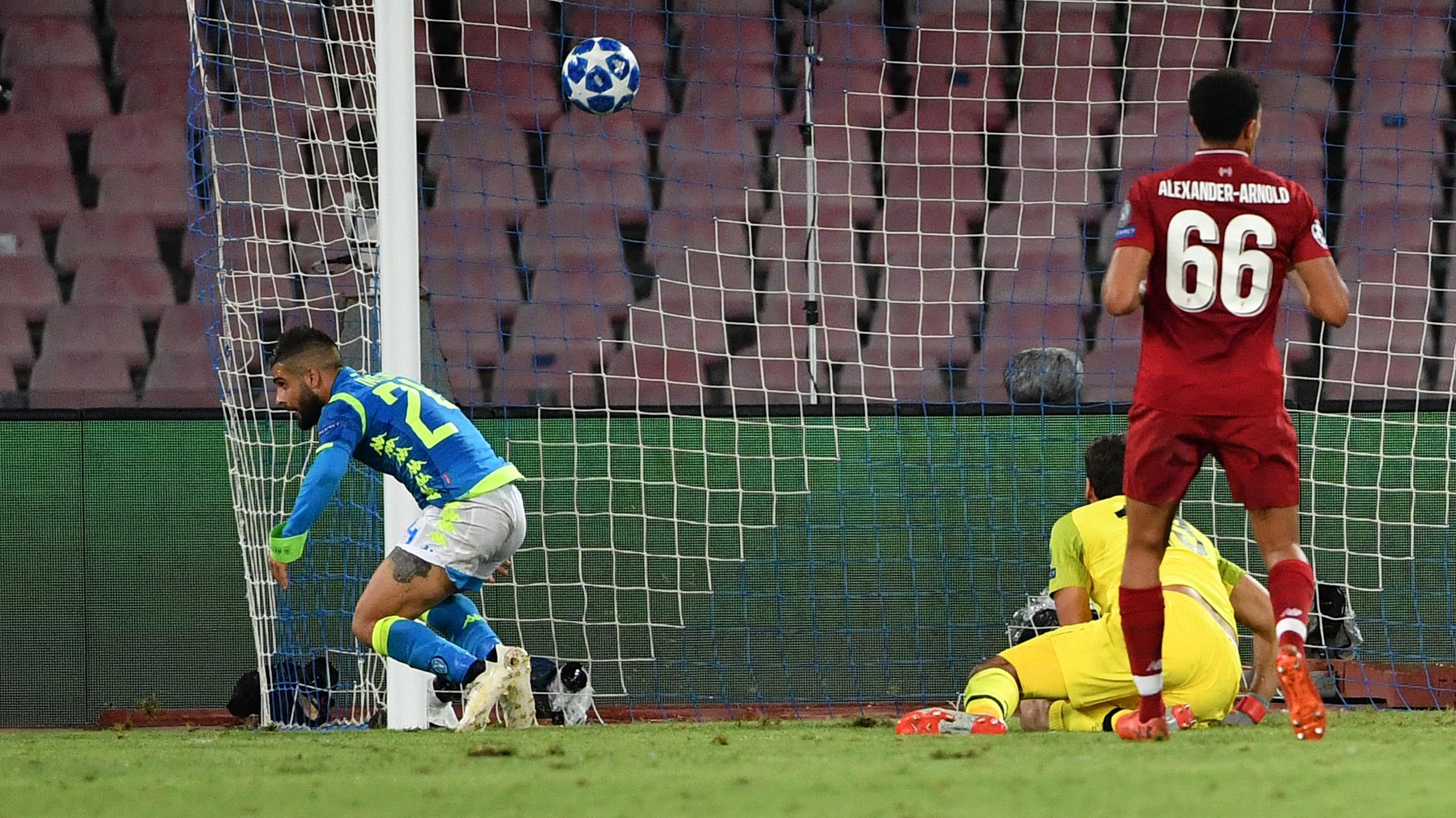 Lorenzo Insigne Napoli Liverpool Champions League