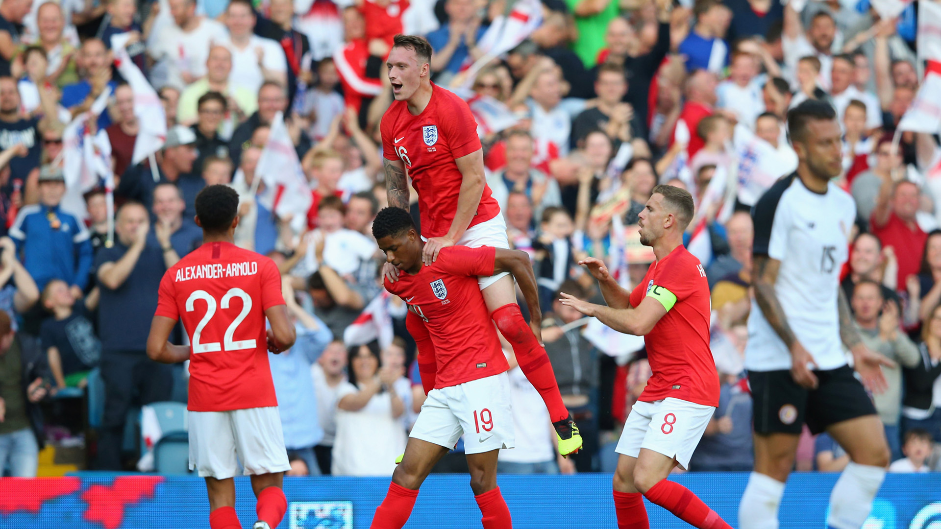 Rashford, Lingard and Young star in England win over Tunisia