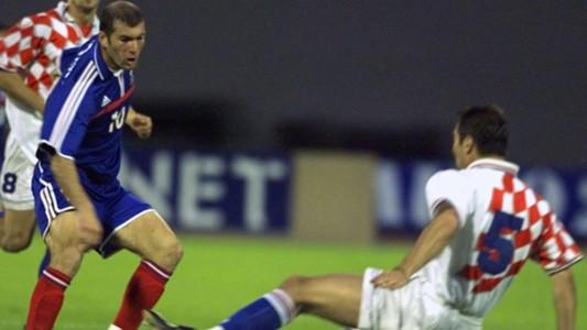 Zinedine Zidane France Croatia 2000