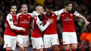 Arsenal celebrate vs CSKA