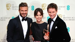 David Beckham Felicity Jones Eddie Redmayne