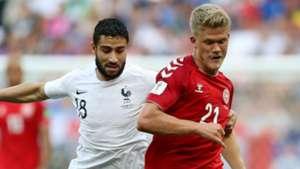 Andreas Cornelius Denmark Nabil Fekir France World Cup