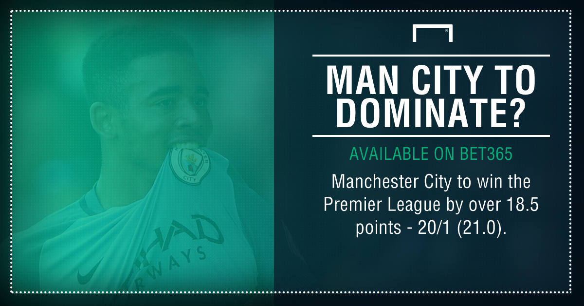 Man City points record graphic