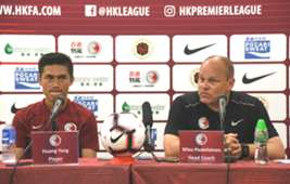 Hong Kong football team will have a friendly game with Chinese Taipei tomorrow.