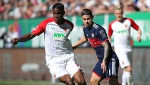070418 Bayern Augsburg Sergio Cordova James Rodríguez