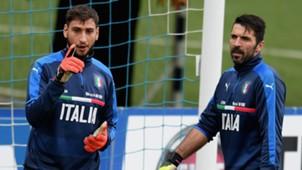 Gianluigi Donnarumma Gigi Buffon Italy