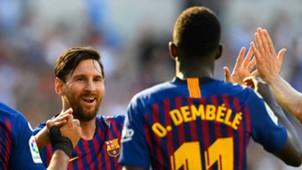 Lionel Messi Ousmane Dembele Barcelona 2018-19