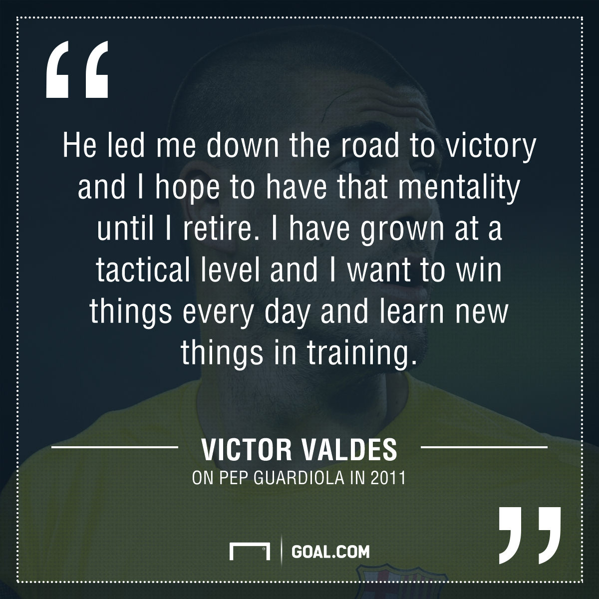 Victor Valdes quote