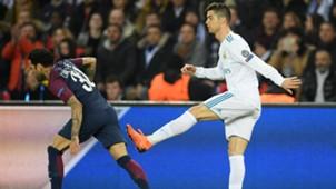 CRISTIANO RONALDO DANI ALVES PSG REAL MADRID CHAMPIONS LEAGUE