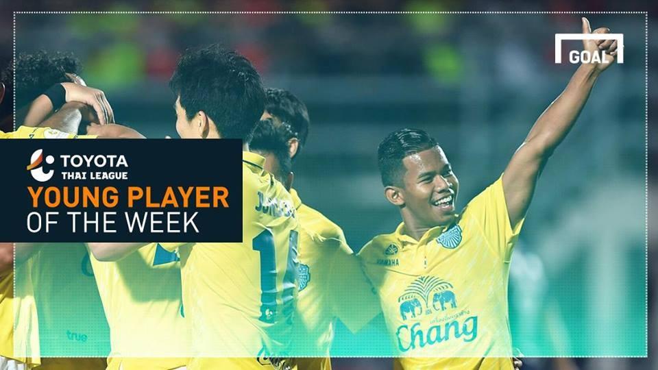 ผลการค้นหารูปภาพสำหรับ Toyota Thai League Young Player of the Week 9 : ศศลักษณ์ ไหประโคน