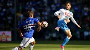 Dries Mertens Karol Linetty Sampdoria Napoli Serie A