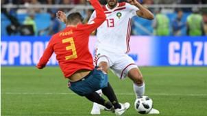 Gerard Pique Spain Morocco World Cup