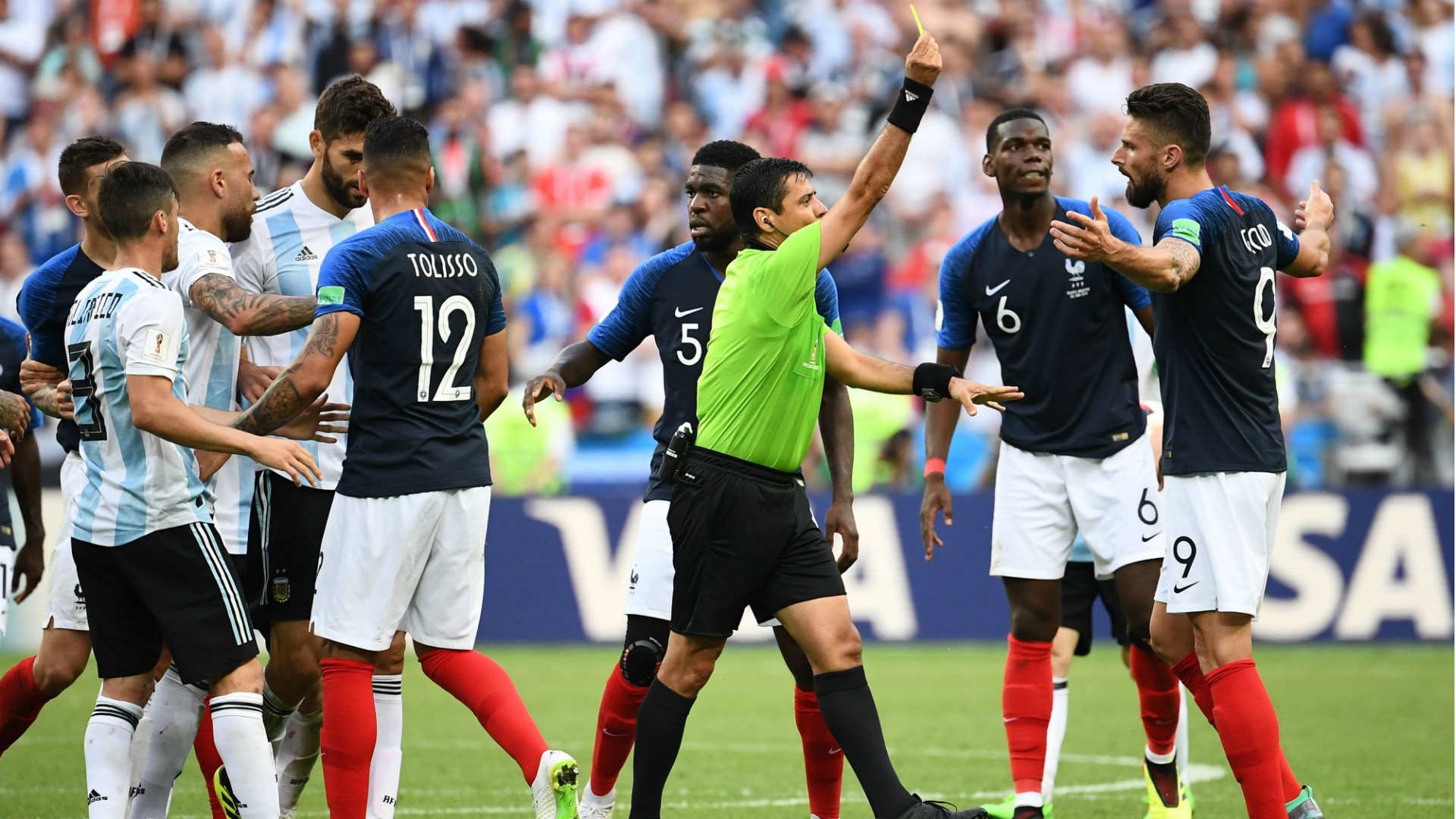 Oliver Giroud Yellow Card World Cup France Argentina