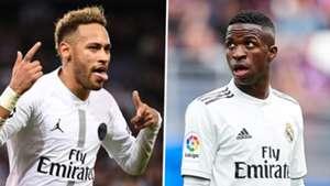 Neymar Vinicius Junior PSG Real Madrid