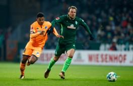 Philipp Bargfrede Serge Gnabry Werder Bremen 1899 Hoffenheim Bundesliga 13012018