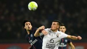 Javier Pastore Frederic Guilbert PSG Caen Ligue 1 20122017