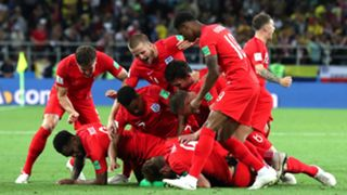 England national football team celebrate