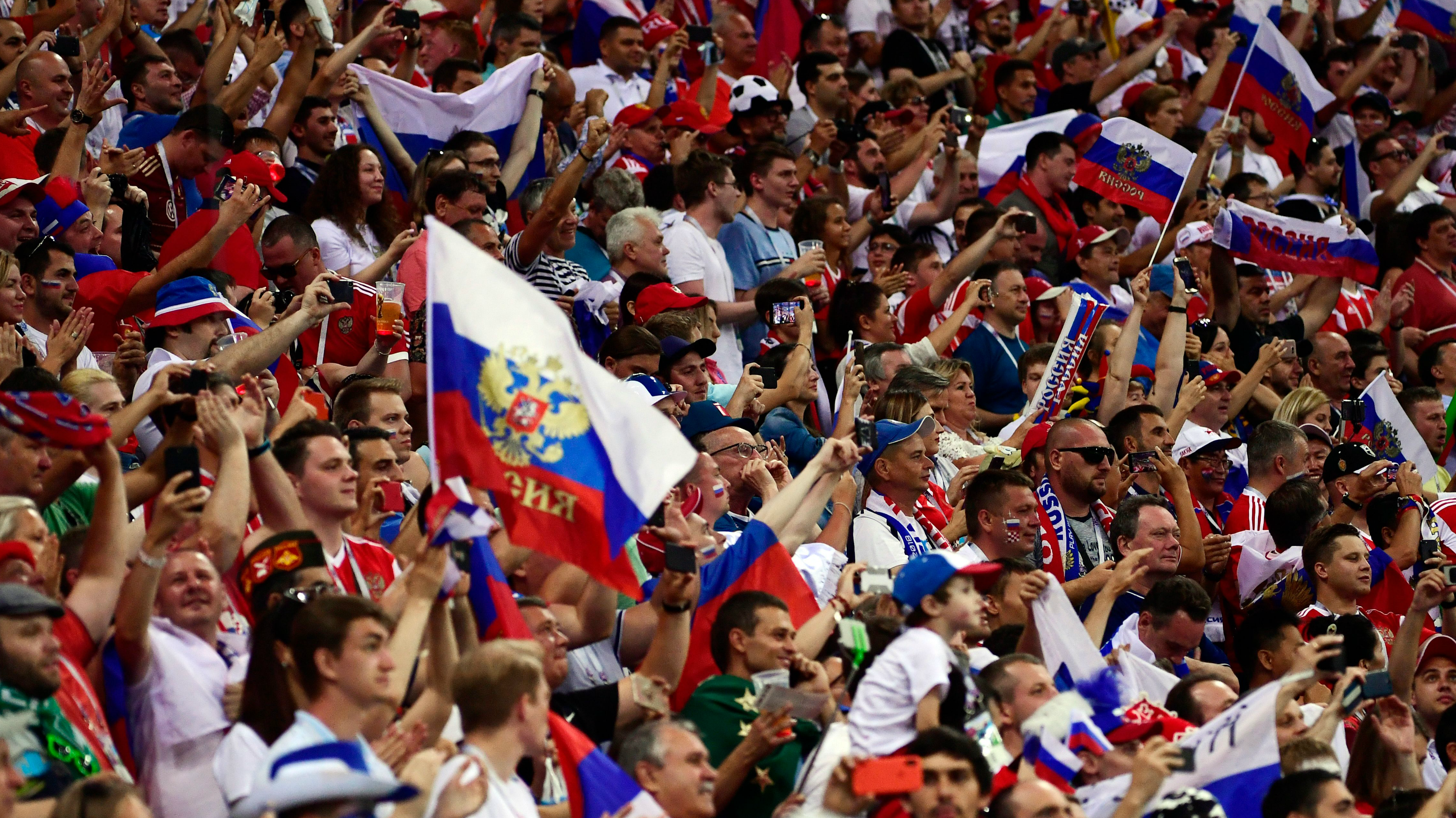 Russian fans World Cup 2018