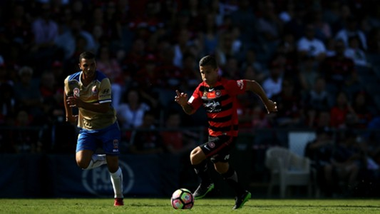 Andrew Nabbout Nico Martinez Western Sydney Wanderers v Newcastle Jets A-League 22012017