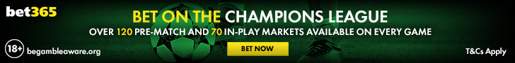 bet365 Champions League footer