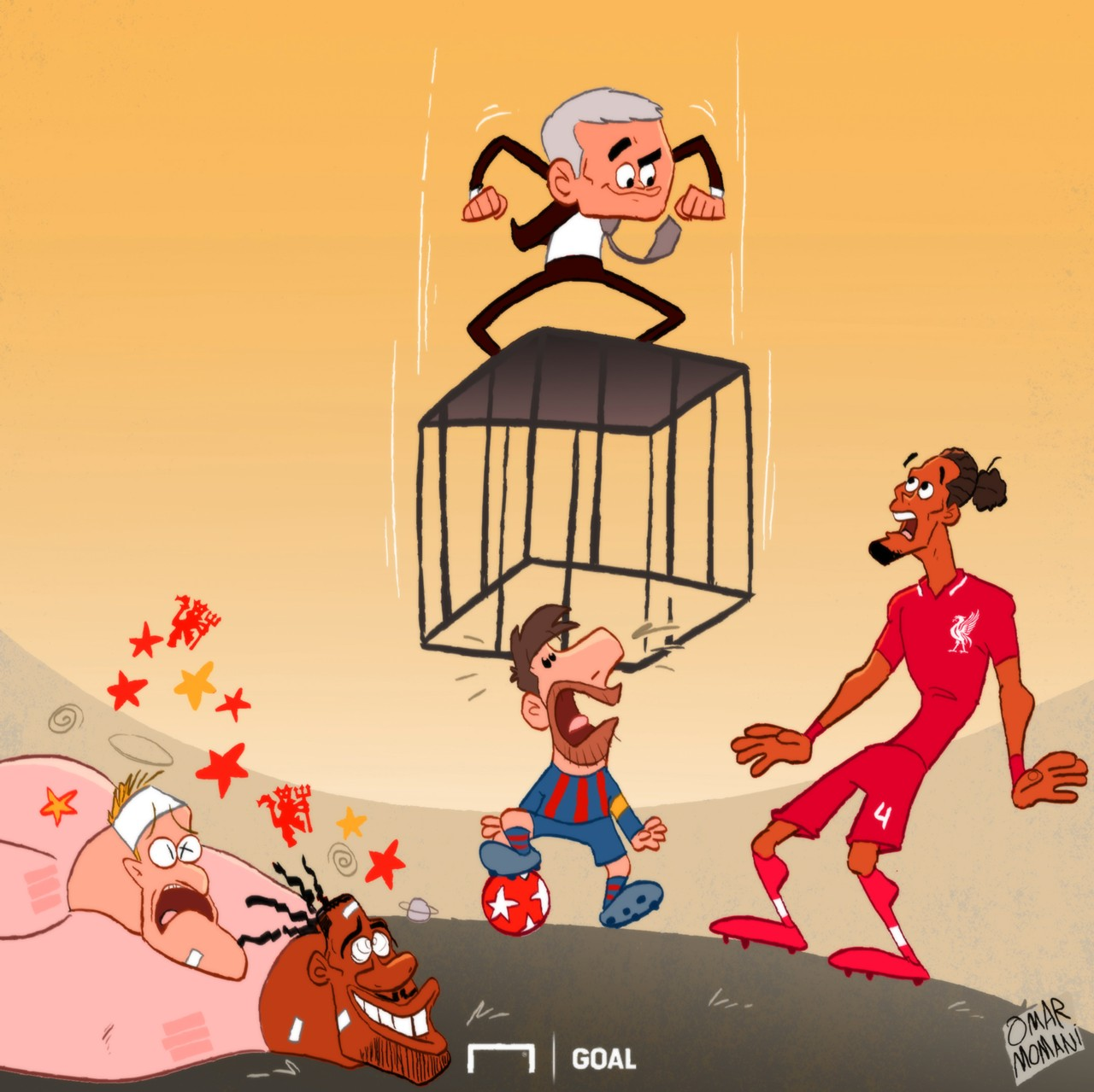 Cartoon: The only way to stop Messi