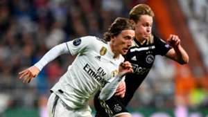 Luka Modric Frenkie de Jong Real Madrid Ajax UCL 04032019