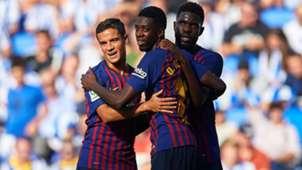 Ousmane Dembele Philippe Coutinho Real Sociedad Barcelona LaLiga 15092018