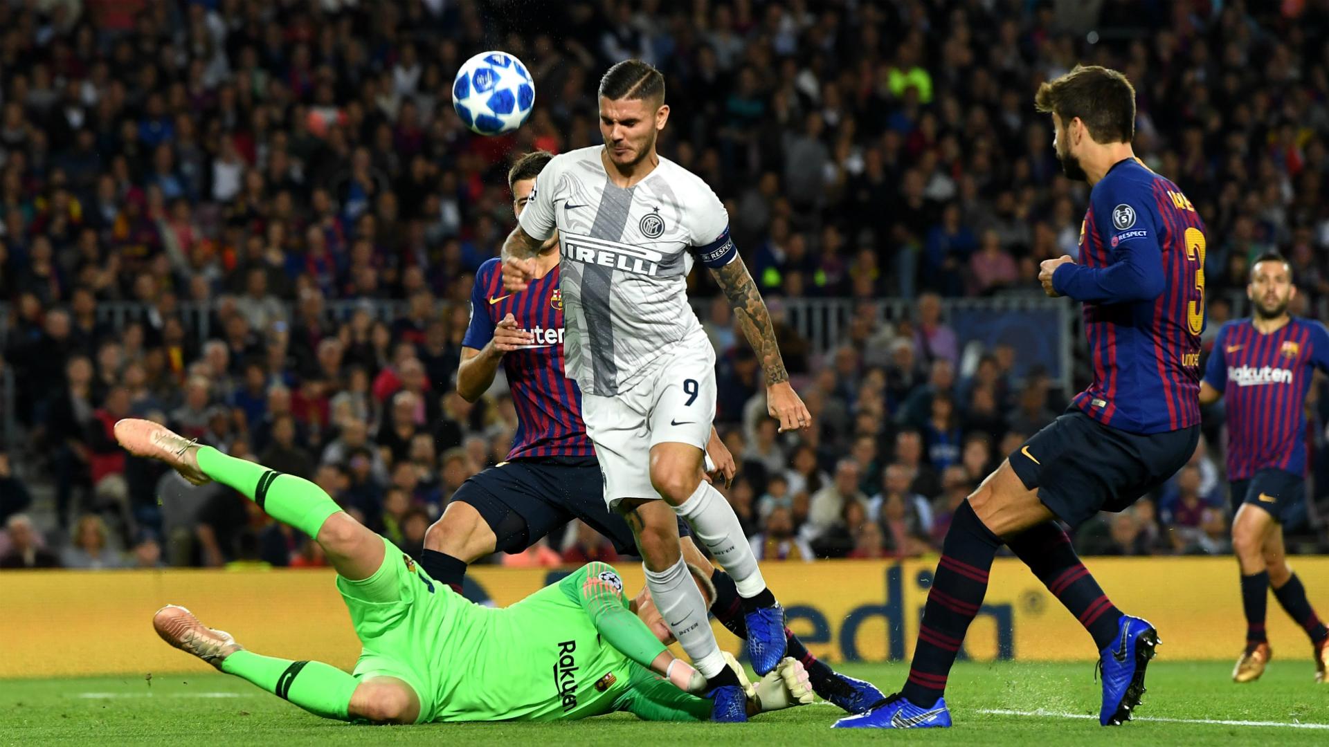 Mauro Icardi Gerard Piquè Barcelona Inter Uefa Champions League