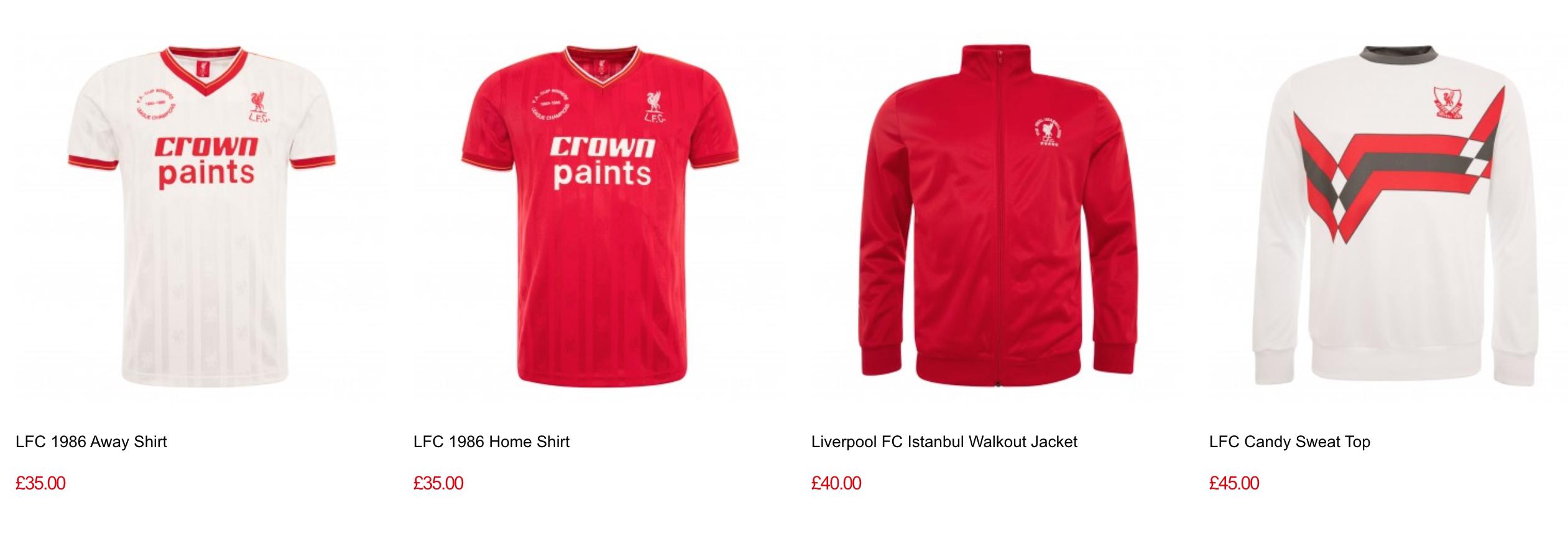 Liverpool retro kits