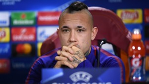 Radja Nainggolan press conference UCL Roma Chelsea
