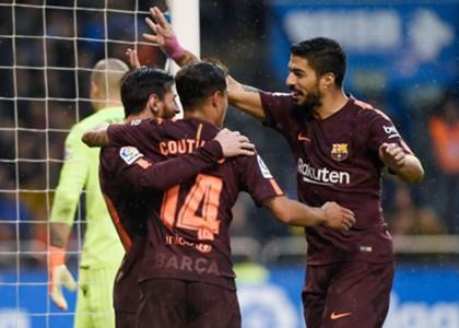 Coutinho Messi Suarez Barcelona Deportivo de La Coruña LaLiga