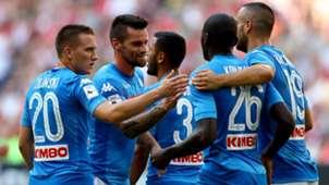 Napoli celebrating vs Bayern