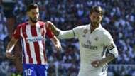 Sergio Ramos Yannick Carrasco Real Madrid Atletico Madrid La Liga