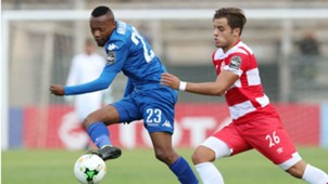 Thabo Mnyamane of SuperSport United vs Club Africain