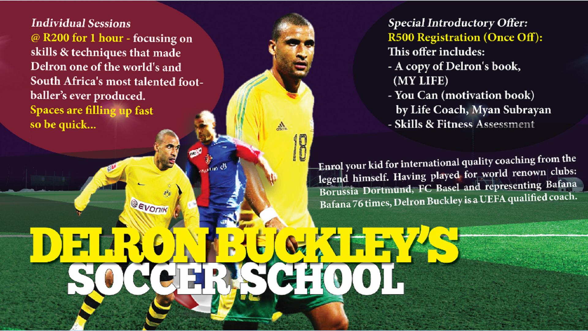 Delron Buckley soccer school