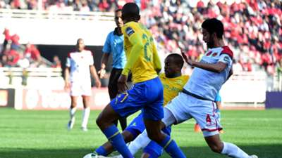 Wydad Casablanca v Mamelodi Sundowns, Salaheddine Saidi and Thapelo Morena, March 2019
