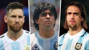 Messi Maradona Batistuta