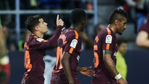 Coutinho Dembele Paulinho Malaga Barcelona LaLiga