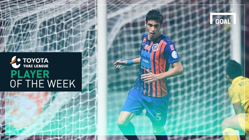 Image result for Toyota Thai League Player of the Week 3 : เซร์คิโอ ซัวเรซ