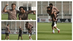 Juventus training 21092018 collage